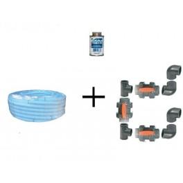 KIT BY PASS D50 pour pompe a chaleur + 12.5 M de tuyau souple D50